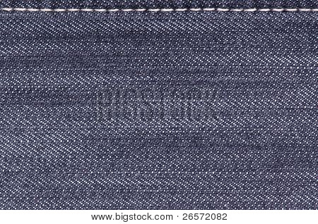 Denim fabric texture ideal for background, close-up of jeans