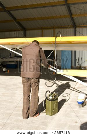 Filling The Plane With Petrol