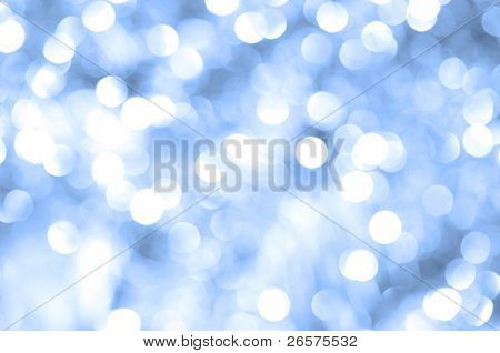 Abstract blue christmas lights as background