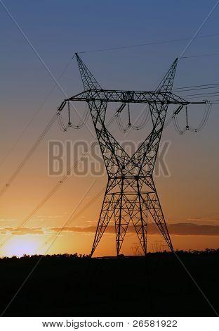 Eletricity Tower Providing Energy Distribution