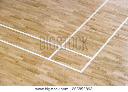 Wooden Floor Volleyball Basketball Badminton