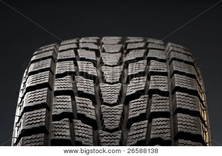Close-up Detail Of Winter Tire