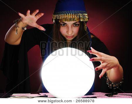 Fortuneteller at work