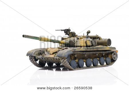 Scale model of russian tank