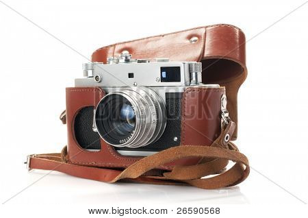 vintage camera isolated on white