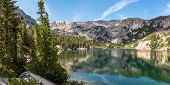 Panorama Of Crystal Lake In Mammoth Lakes, California poster