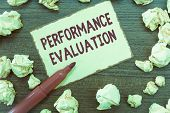 Handwriting Text Performance Evaluation. Concept Meaning Evaluates Employee Performance Overall Cont poster