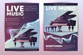 Classical Or Jazz Music Festival, Symphonic Orchestra Live Concert, Piano Virtuoso Performance Moder poster