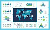 Business Infographic Presentation Slide Design Set Can Be Used For Workflow Layout, Annual Report, W poster