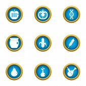 Preserving Icons Set. Flat Set Of 9 Preserving Vector Icons For Web Isolated On White Background poster