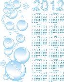 Постер, плакат: вектор календарь 2012 на фоне голубой пузырь