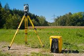 Surveying High Voltage Power Lines - Total Station In The Field poster