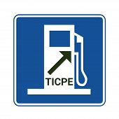 Domestic Consumption Tax On Energy Products Symbol Called Ticpe In French poster
