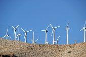 Landscape With Wind Turbines Coachella Valley California poster