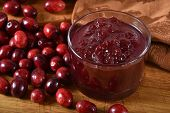 Gourmet Whole Berry Cranberry Sauce With Fresh Cranberries poster