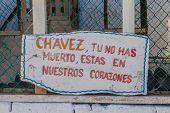 Propaganda Near Baracoa, Cuba. It Says: Chavez, You Did Not Die, You Are Staying In Ou Hearts. poster