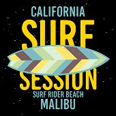 Malibu Surf Rider Beach California Surfing Surf  Sign Label For Promotion Ads T Shirt Or Sticker Pos poster