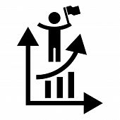 Man Grow Up Chart Icon. Simple Illustration Of Man Grow Up Chart Vector Icon For Web Design Isolated poster