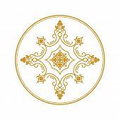 Golden Vintage Ornament Pattern Vector, Border Ornament Pattern, Engraving Ornament Pattern, Antique poster