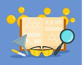 Chemical Science Concept Background. Flat Illustration Of Chemical Science Concept Background For We poster