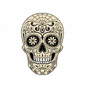 Graphic Illustration Of Stylized Decorative Sugar Skull. Halloween. Day Of The Dead. Painted Skull poster