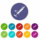 Clinical Syringe Icon. Simple Illustration Of Clinical Syringe Icon For Web poster