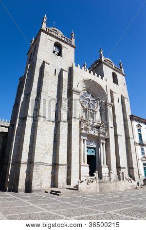 Cathedral of Santa Clara in oPorto, Portugal