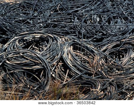 Electronic waste old cables