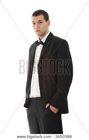 Youn Man Wearing Tuxedo
