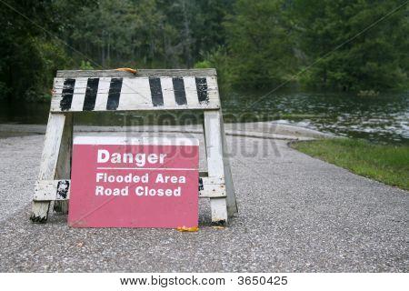 Danger Flooded Road