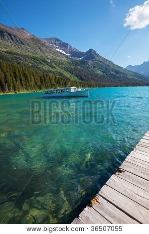 Josephine Lake in Glacier National Park, Montana