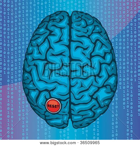 Reset your brain. Vector format EPS 8, CMYK.