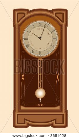 Clock With Pendulum.