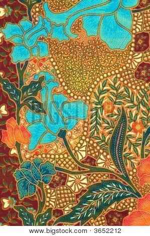 Blue Floral Batik Sarong