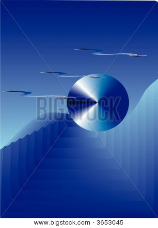 Blue Futuristic Background Or Logo