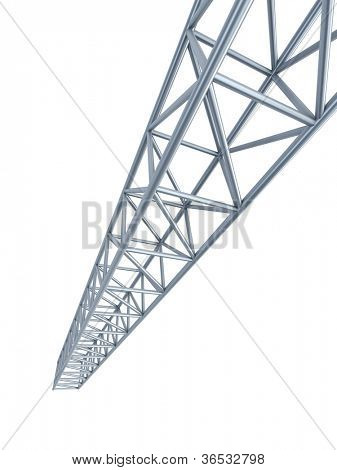 steel girder, isolated 3d render