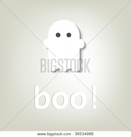 little ghost. creative poster for Halloween.