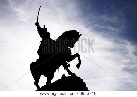Saber Rider Statue Silhouette