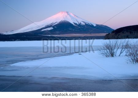 Mount Fuji In Winter