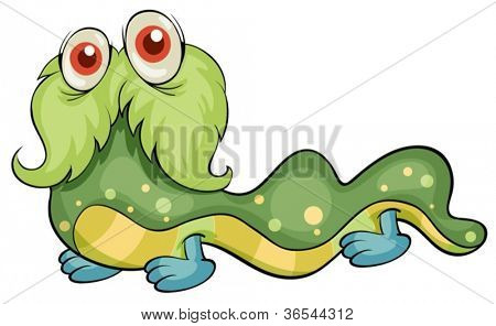 illustration of a scary monster on a white background