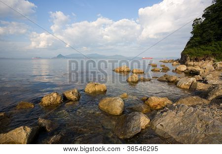 Nakhodka Bay. Russia. Primorsky Kray. Japan sea.
