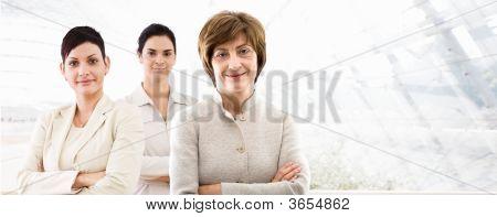 Business Banner - Three Businesswomen