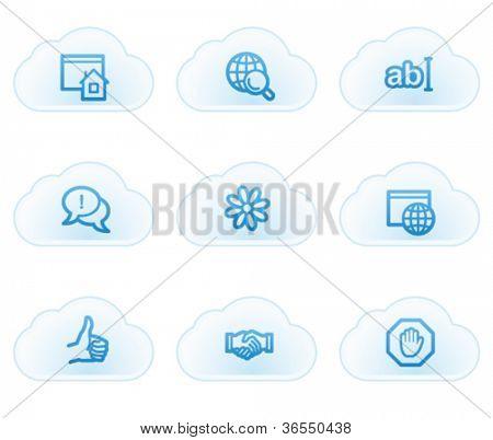 Internet web icons set 1, cloud buttons