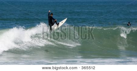 A Surfer Turning