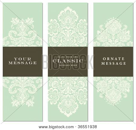 Vector Pastel Ornament Set. Easy to edit. Perfect for invitations or announcements.