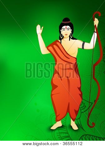 Hindu mythology God Shri Rama. EPS 10.