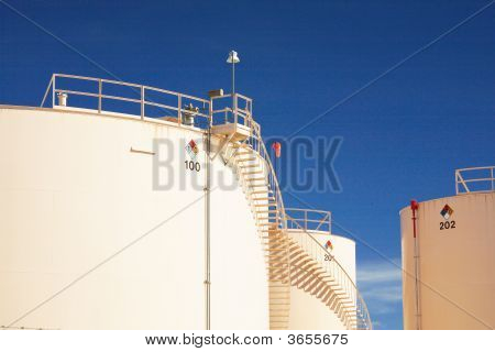 Multiple Oil Storage Tanks