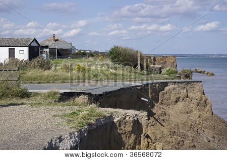 Coast erosion on East Yorkshire coast