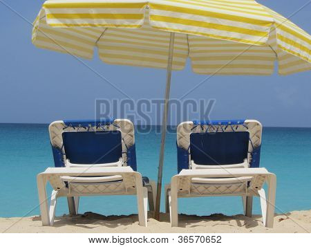 Empty Beach Chairs