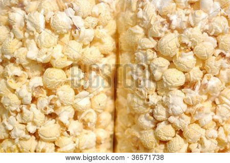 Pop-corn In Plastic Bag For Background Uses